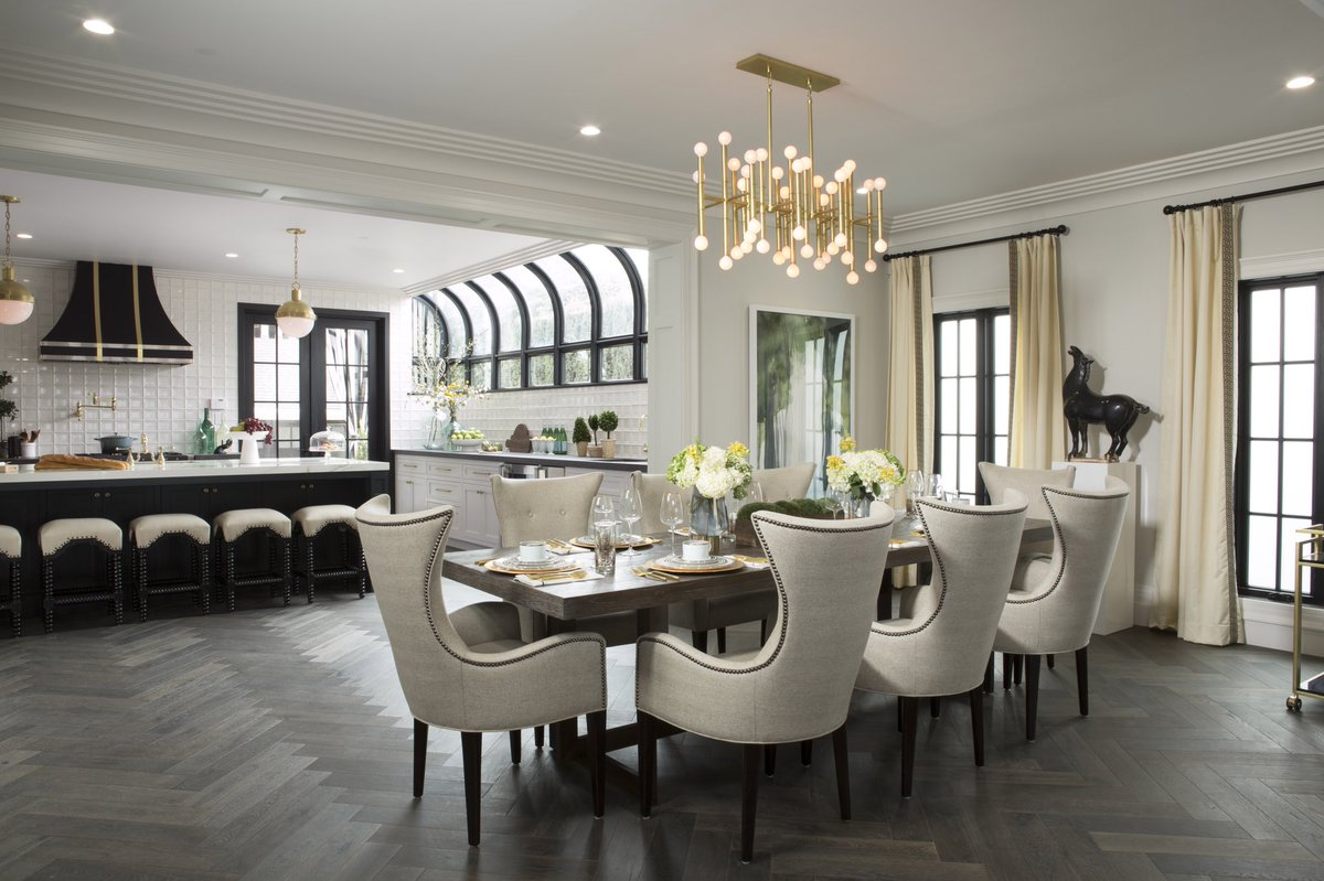 Linda phan and drew scott new dining room in los angeles